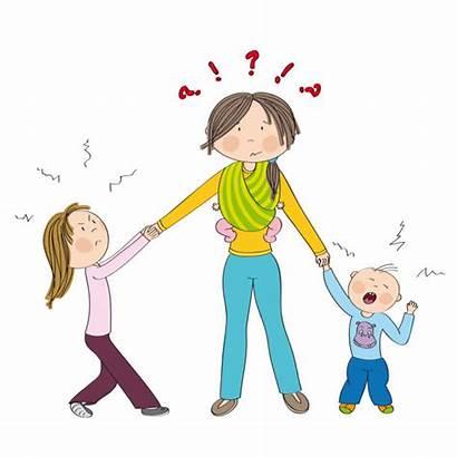 Sibling Rivalry Naughty Fighting Siblings Kid Mum
