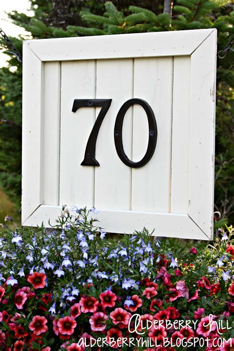 alderberry hill house number sign