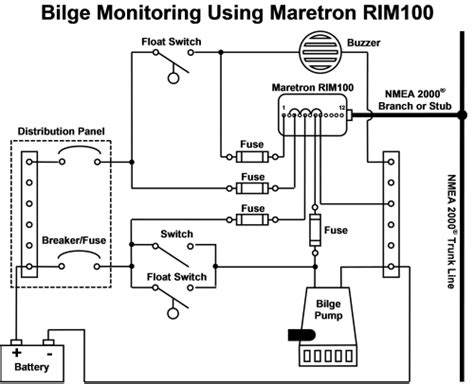 monitor  bilge  maretron equipment