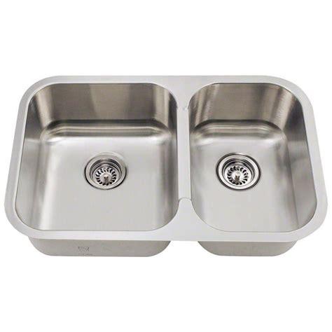 stainless steel undermount kitchen sink double bowl polaris sinks undermount stainless steel 28 in double