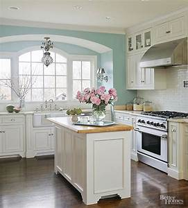 create a serene kitchen setting with a light and cheery With kitchen colors with white cabinets with how to make monogram stickers at home