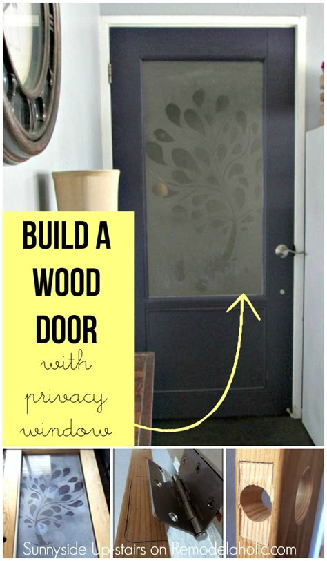 remodelaholic building  frosted glass pane door