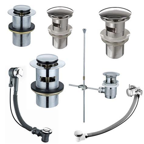 Brass Chrome Bathroom Sink Basin Bath Pop Up Waste Plug Ebay