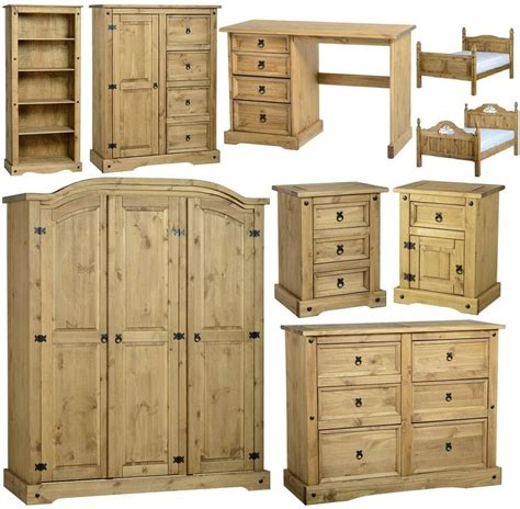 corona mexican pine bedroom furniture dressing table bed wardrobe drawers ebay