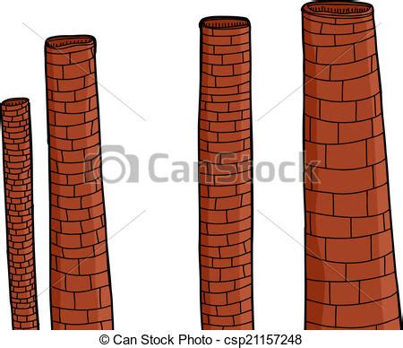 eps vector of old brick chimneys old brick factory chimneys over csp21157248 search clip