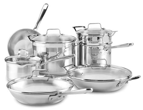 emerilware stainless cookware stainless steel cookware set  piece cutlery
