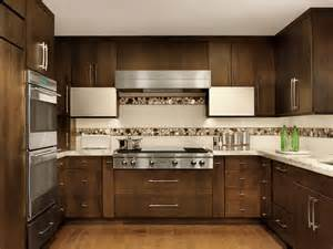interior modern homes contemporary kitchen with mosaic tile backsplash beck allen cabinetry