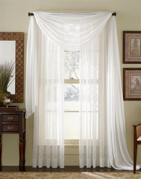 white sheer curtain scarf moshells