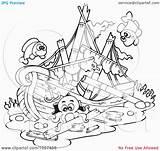 Sunken Lipca sketch template