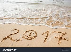 Happy New Year 2017, Lettering On The Beach. Stock Photo ...