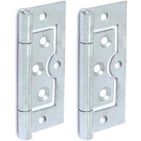 flush door hinges 2x silver 75mm 3 inch flush door hinges
