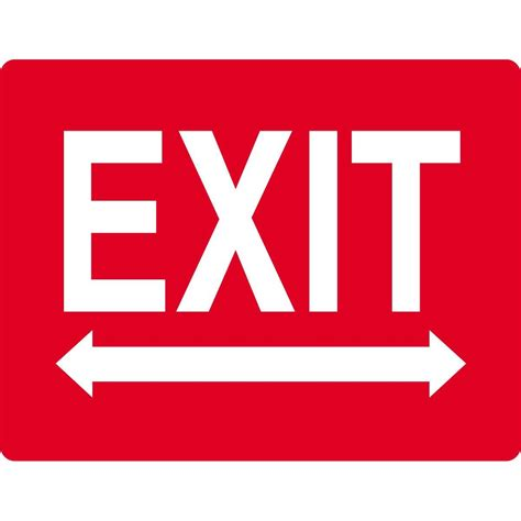 Exit Sign With Arrows  Gempler's. Kesihatan Signs. Rejection Signs. Matt Stickers. Acid Reflux Signs
