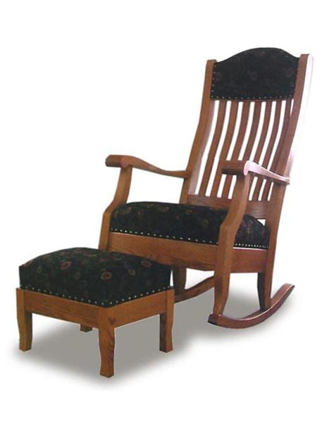 auntie s rocking chair and footstool amish family room