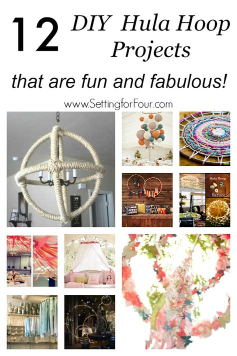 12 diy hula hoop projects that are and fabulous setting for four