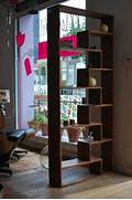 Interior Partition Ideas Simple Room Dividers Ideas Made Of Wooden Material In Dark Brown Color