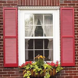 Awc, Exterior, Window, Shutters, Louvered, Pair