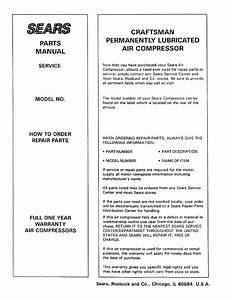 Craftsman 919155730 User Manual Air Compressor Manuals And