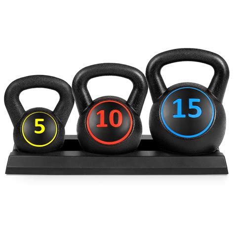 weights kettlebell weight fitness amazon exercise exercises rack workout dumbbell dumbells 15lb lb hand 5lb choice body neoprene hdpe 10lb
