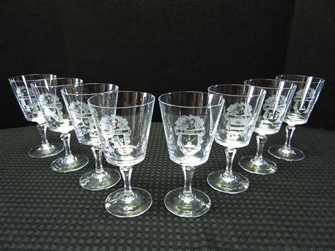 Crystal Stemware With Family Crests