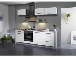 Meuble Cuisine Blanc : cuisine meuble blanc modele cuisine equipee cuisines ~ Edinachiropracticcenter.com Idées de Décoration