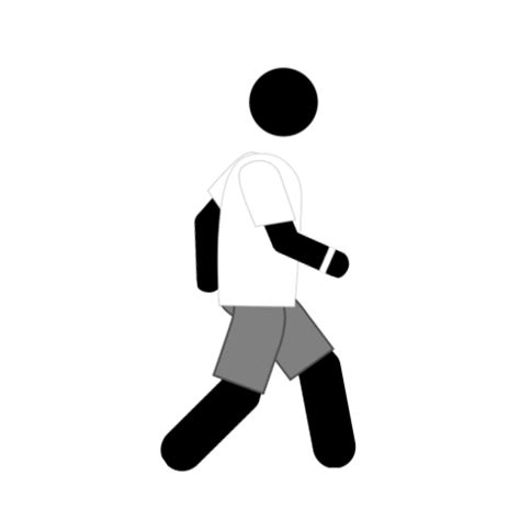 health animated gif icon walking digital splash media
