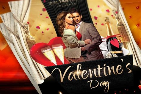 valentines day flyer template   flyer template