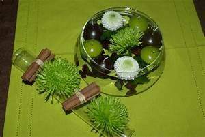 Centre De Table Chocolat : centre de table fleuri vert et chocolat les 2 mains gauches ~ Zukunftsfamilie.com Idées de Décoration