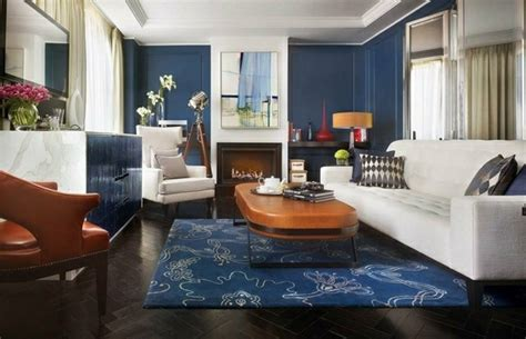 canapé cuir style anglais deco salon avec canape bleu chaios com