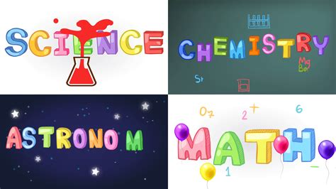 Kaos Math Science 2 four screen animation of science math chemistry and