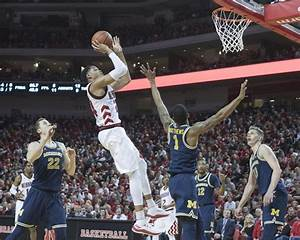 Nebraska basketball upsets No. 23 Michigan, earns first ...