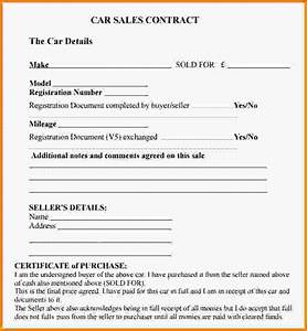 sales agreement templatecar sales contract templatejpg With private home sale contract template