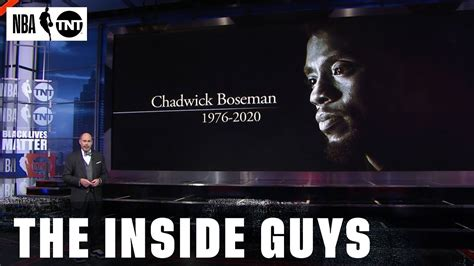 NBA on TNT Remembers Chadwick Boseman, Lute Olson, Cliff ...