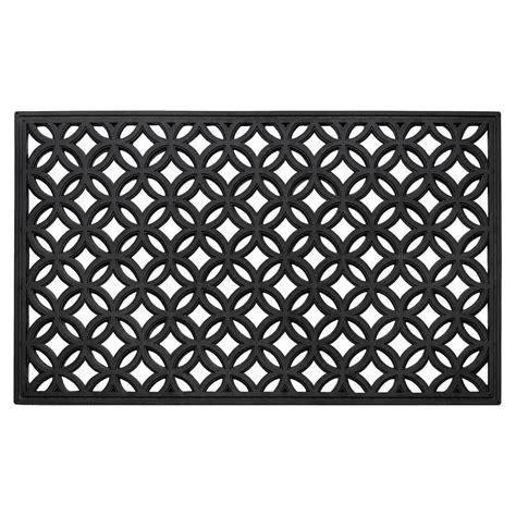Wrought Iron Doormat by Achim 18 In X 30 In Wrought Iron Rubber Door Mat
