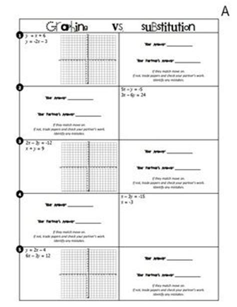 grade 10 math substitution worksheets solving linear