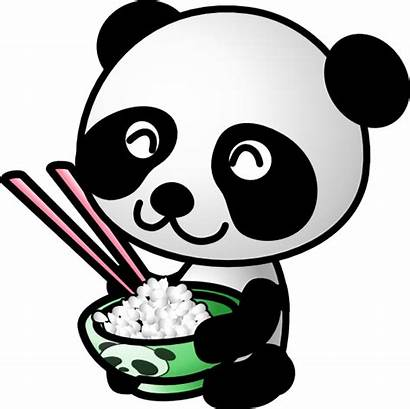 Panda Eating Rice Clip Clipart Animated Clker