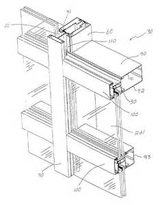 patent us6804920 lock curtain wall system