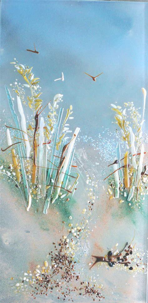 path   beach themed fused glass art panel designer glass mosaics