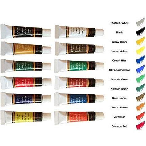 acrylic paint set 12 colors by crafts 4 all perfect for