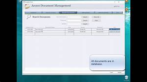 share access document management database over network With access document management database