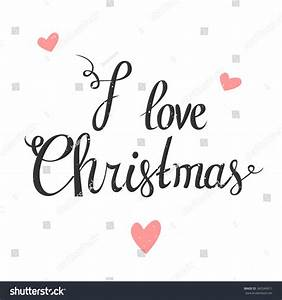 Love Christmas Vector Typography Poster Hand Stock Vector ...
