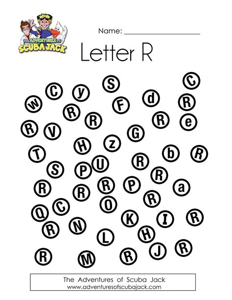 letter r preschool activities printable worksheets adventures of scuba 446