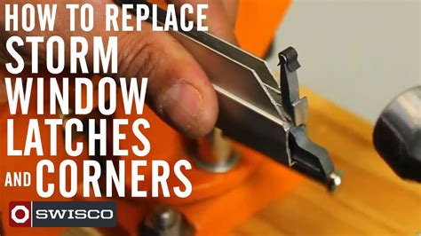 replace  storm window latches  corners youtube