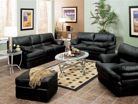 black leather sofa the best choice for charming living