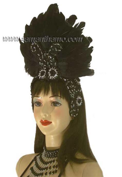 professional show girl cabaret headdress   colour