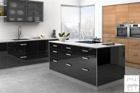 cuisine noir brillant meuble de cuisine noir laque
