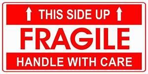 Akshaya Labels Medium Fragile Handle With Care Paper