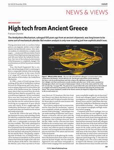 (PDF) Archaeology: High tech from Ancient Greece