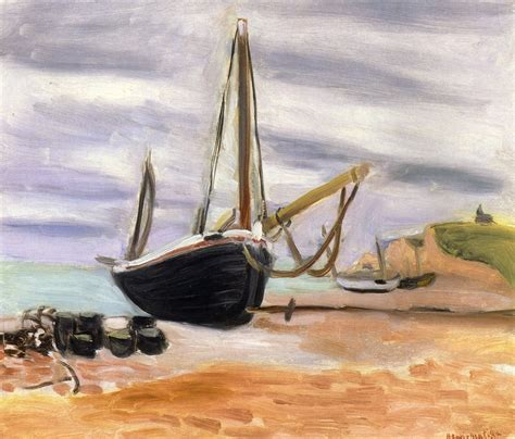 The Boat Matisse by Boats At Etretat Matisse Henri Wikiart Org