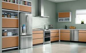 Contemporary kitchen remodels kitchen clipgoo for Kitchen cabinets lowes with papiers peints cuisine