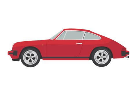 Red Porsche Sc Vector  Ee  Car Ee   Il Ration By